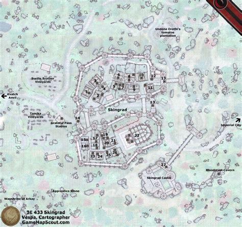 Gold Area Rugs Oblivion Map Of Skingrad Guide To Skingrad