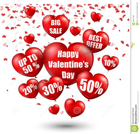 big valentines day balloons happy s day background with big sale balloons in