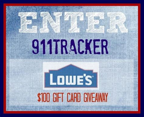 Lowes Gift Card Giveaway - 100 lowes gift card giveaway