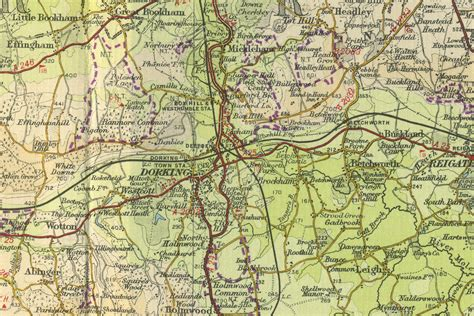 a map of dorking map