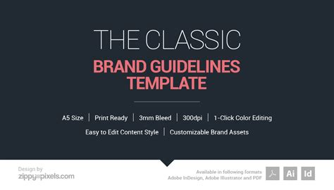 The Classic Branding Guidelines Template On Behance Brand Guidelines Template Illustrator