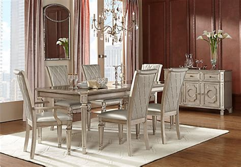 silver dining room sets terra silver 7 pc dining room dining room sets colors
