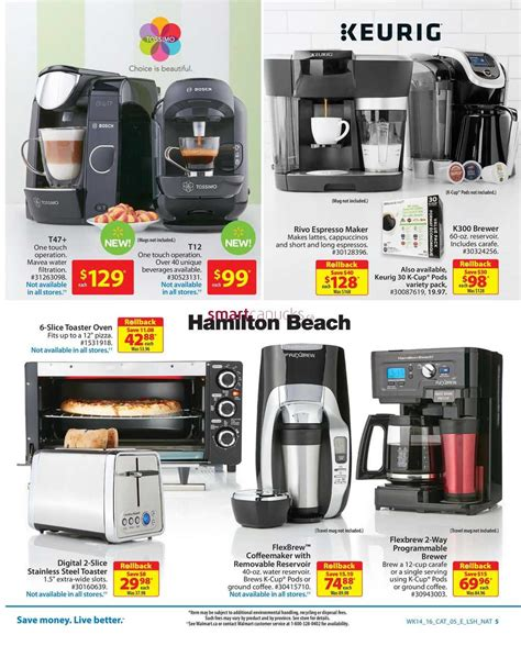 walmart small kitchen appliances walmart canada small appliances flyer april 28 to may 11
