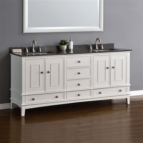 cambridge 72 quot white sink vanity mission