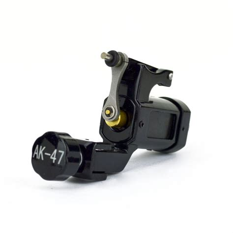 ak 47 black rotary tattoo machine lightweight alloy frame