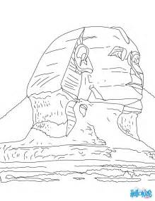 sphinx of giza coloring pages hellokids com