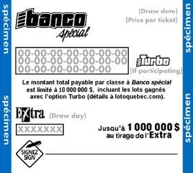 banco winning numbers banco sp 233 cial lotteries loto qu 233 bec