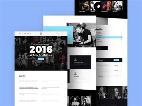 Music Studio Website Template Free Psd Download Download Psd Photo Studio Website Templates Free