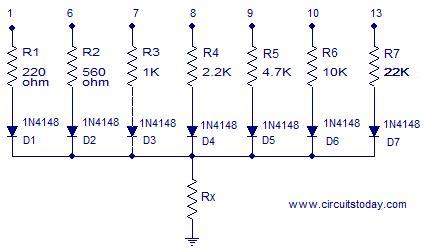 arduino resistor meter ohmmeter circuit using arduino measure resistance in lcd