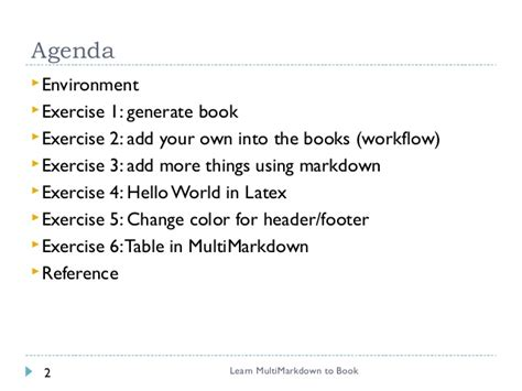 write book in markdown