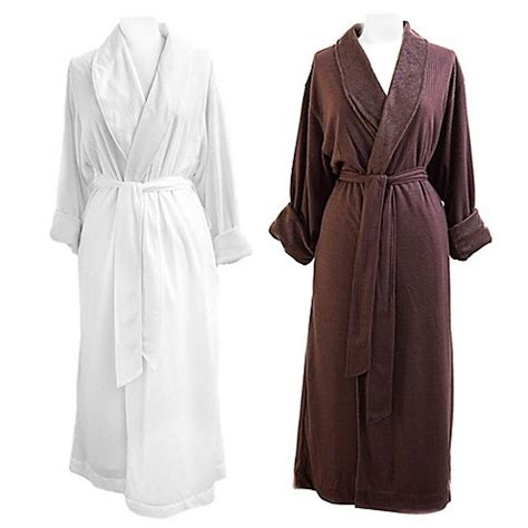 bed bath and beyond robes telegraph hill waffle weave double layer microfiber robe