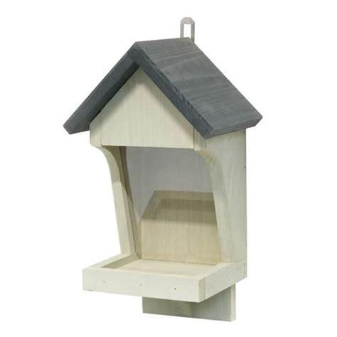 Wall Mounted Bird Feeder wall mounted wooden bird seed feeder in grey