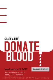 blood drive customizable design templates postermywall
