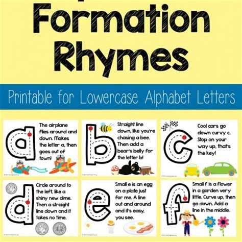 alphabet printing rhymes lowercase alphabet formation rhymes teaching mama