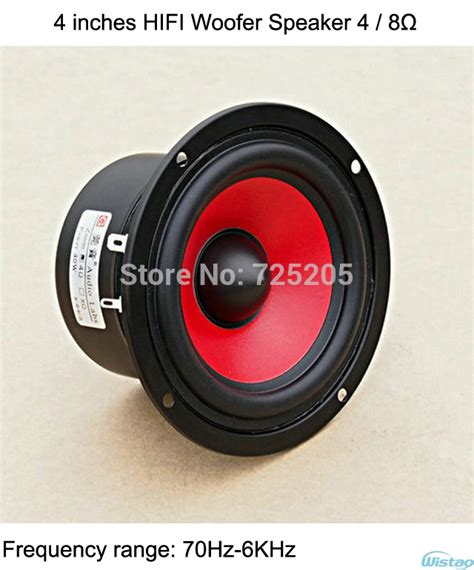 Speaker Subwoofer Mobil Advance Hifi Bass 4 inches hifi woofer speaker 8 ohms 2 1 2 0 subwoofer bass
