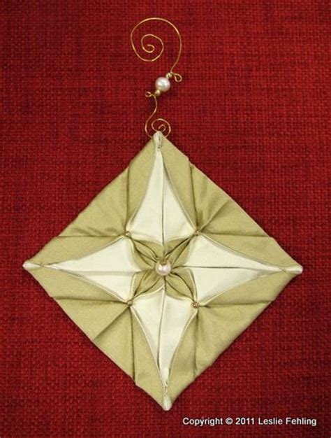 Fabric Origami Ornaments - 1000 images about ornaments on