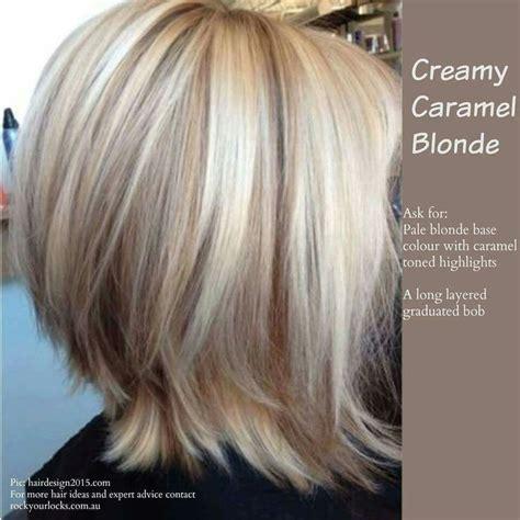 short bob hair colors highlights creamy caramel blonde oh so pretty pinterest bobs
