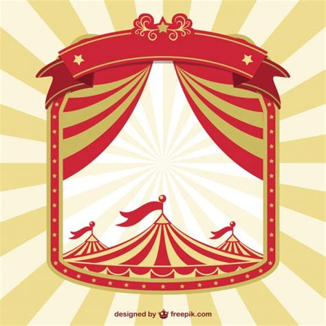 vintage circus concept poster vector free download