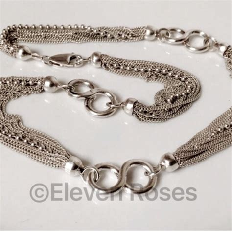 lia infinity necklace sterling silver multi chain infinity link necklace os from