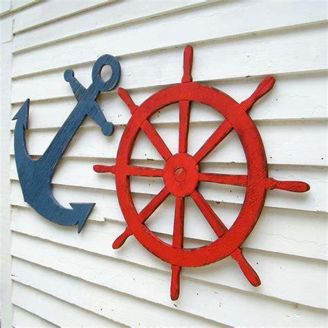 outdoor nautical wall decor ships wheel sign nautical sign coastal wall decor