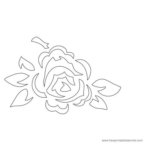 free printable flowers stencils pics for gt flower template printable rose