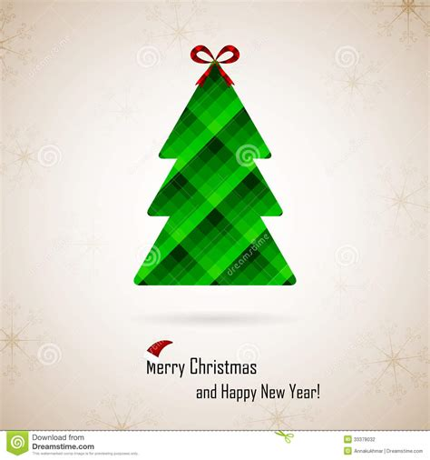 christmas and new year vector greeting card stock