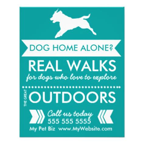 dog walking flyers leaflets zazzle com au