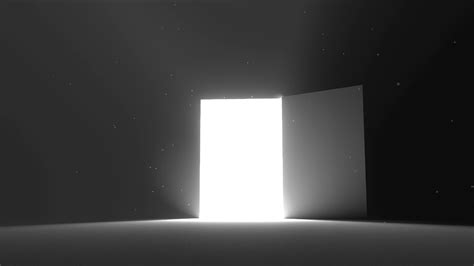 Door Open To Bright Light New Opportunity Epiphany Opportunity Lights