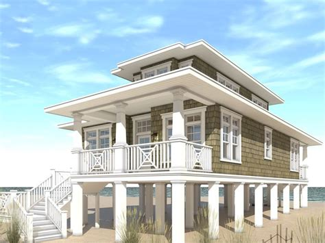 beach house home plans beach house plans narrow lot beach house plan 052h