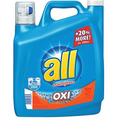 All Oxi Liquid Laundry Detergent 180 Fl Oz Walmart Com Laundry Walmart