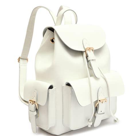 White Backpack Bag white leather backpack backpack tools