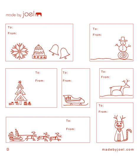 free printable christmas cat gift tags made by joel 187 printouts