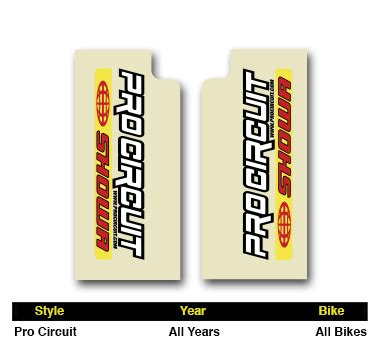 pro circuit showa fork stickers mx dirt bike graphics fit