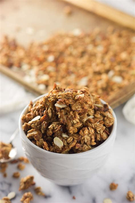 Granola Almond high protein low sugar vanilla almond crunch granola