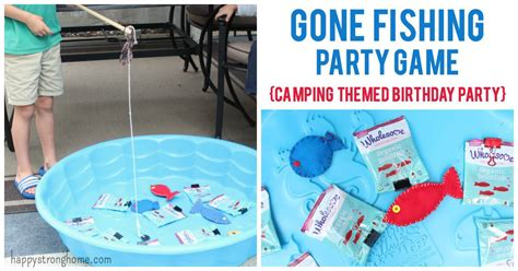 diy  fishing party game idea camping themed party