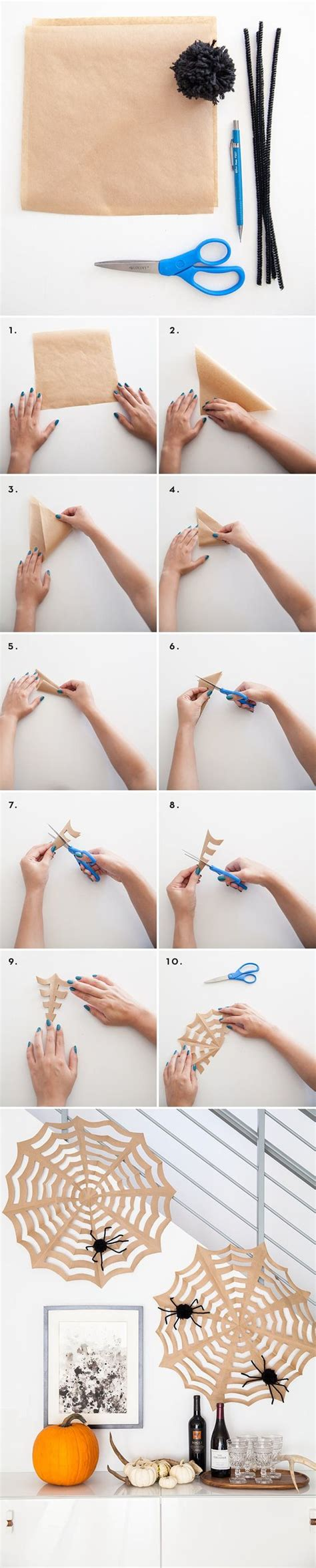 How To Make A Spiderweb Out Of Paper - craft papers crafts and spider webs on