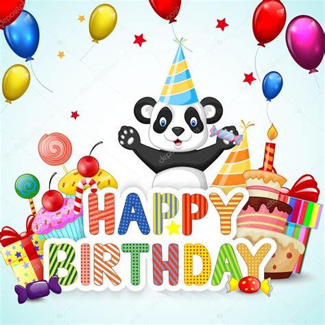 imagenws d panda feliz cumple hermana fondo de cumplea 241 os con la panda de dibujos animados feliz