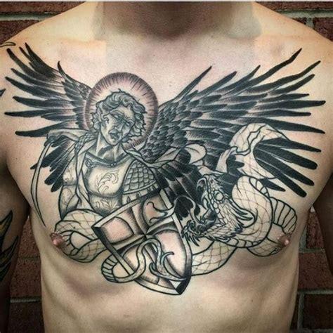 st michael chest tattoo 10 archangel michael tattoos on chest