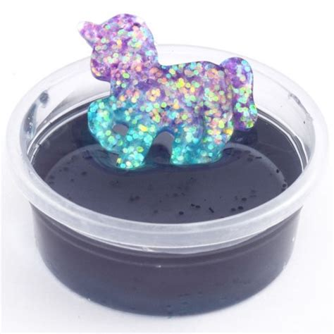Kobucca Shop Slime Jelly Blue slime grigioazzurro brillantini unicorno custodia kawaii