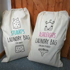 Laundry Hers Personalised His And Hers Laundry Bag Set By A Type Of Design Notonthehighstreet