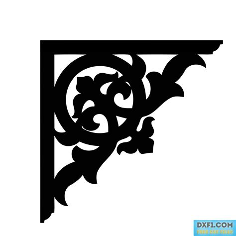corner pattern vector cdr corners free dxf files free cad software dxf1 com