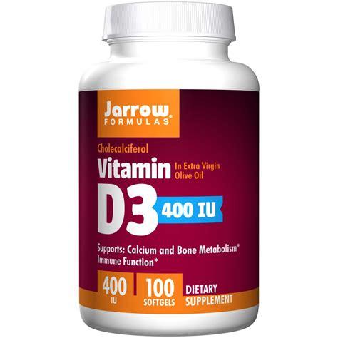 Vitamin D3 Jarrow Formulas Vitamin D3 Cholecalciferol 400 Iu 100