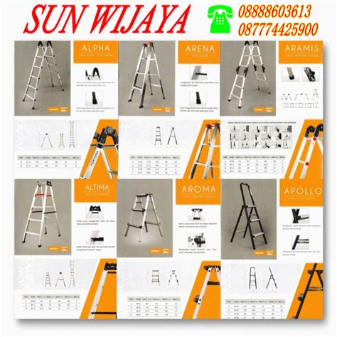 Harga Jemuran Baju Merk tangga lipat aluminium fortuna jual tangga tangki dan