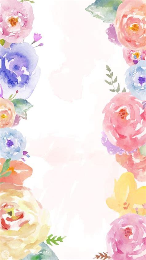 pinterest wallpaper borders white pink lavender blue watercolour floral flowers frame