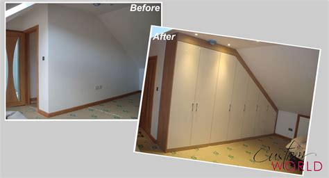 Fitted Wardrobes For Sloping Ceilings by Fitted Furniture Before And Afters Custom World Bedrooms