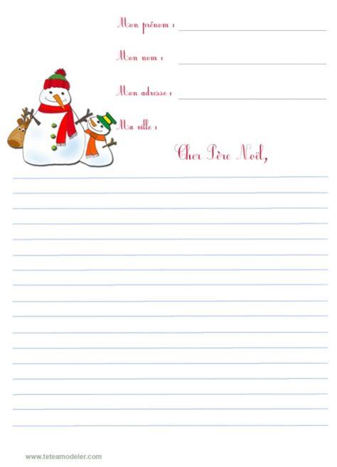 Modèle De Lettre Au Pere Noel à Imprimer Papier Pour Lettre Au P 232 Re No 235 L T 234 Te 224 Modeler