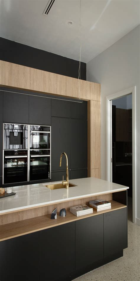 black kitchen island contemporary kitchen airoom the block 2016 apartment one karlie will