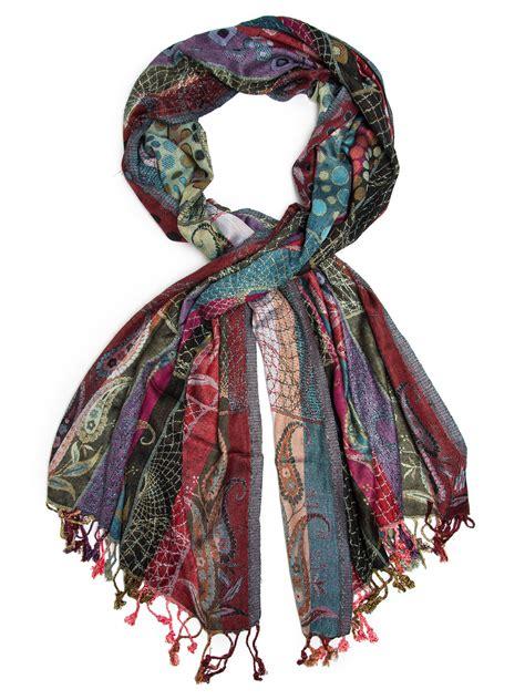 harina shawl woven reversible striped pashmina scarf