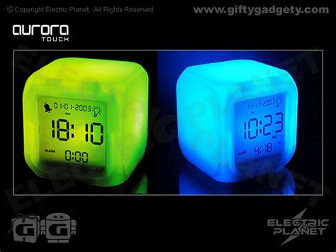 up light alarm clock touch led alarm clock giftygadgety com
