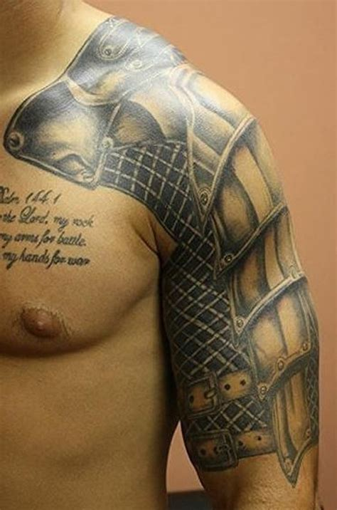 armor shoulder tattoo beautiful armor on arm